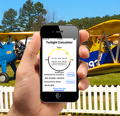 Aviation Apps in hand